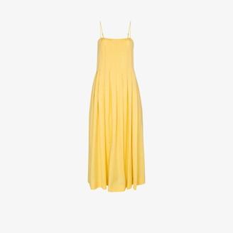 Three Graces Lucia pleated cotton dress