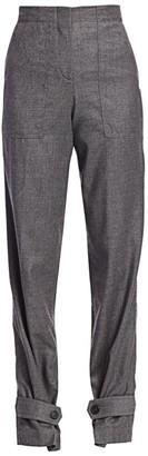 Helmut Lang Flannel Virgin Wool Military Pants
