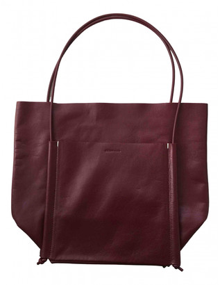 Building Block Burgundy Leather Handbags