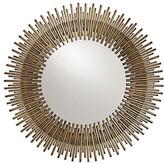 Arteriors Prescott Round Wall Mirror - Antiqued Gold Leaf