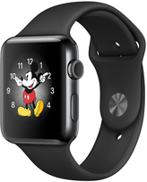 Apple Watch Series 2 42mm Space Black Stainless Steel Case with Black Sport Band MP4A2X/A