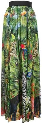 Dolce & Gabbana Jungle-Print Maxi Skirt