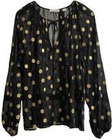 LES COYOTES DE PARIS Black Silk Top for Women