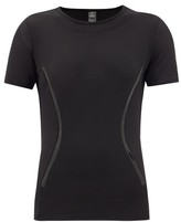 adidas by Stella McCartney Essentials Panelled Performance T-shirt - Womens - Black