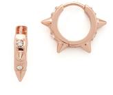 Rebecca Minkoff Studded Huggie Pave Earrings
