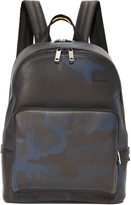 Jack Spade Camo Dot Leather Backpack