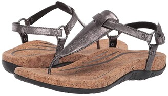 Aetrex Emilia (Pewter) Women's Sandals