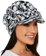 Accessory Network Open Weave Brimmed Beanie Hat