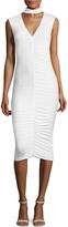 Bailey 44 Women's Choker Ruched Sheath Dress