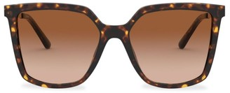 Tory Burch Square 55MM Faux Tortoiseshell Sunglasses