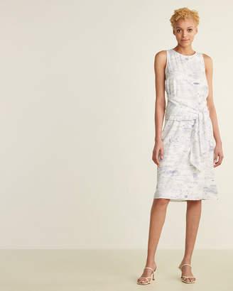 Le Mont St Michel Pencil Tie Waist Dress