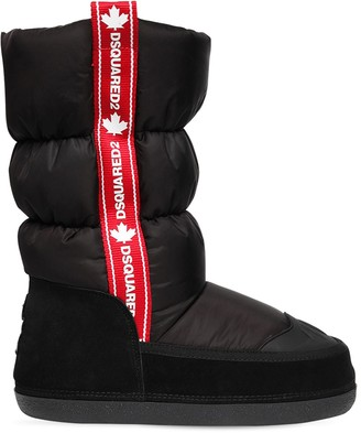 DSQUARED2 Nylon & Suede Snow Boots W/ Logo Web