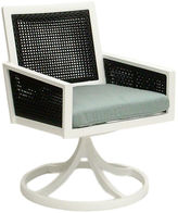 Koverton Woven Swivel Dining Chair, Spa Blue