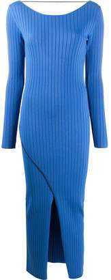 Patrizia Pepe ribbed-knit fitted dress