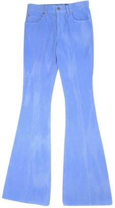 Gucci Blue Cotton - elasthane Jeans