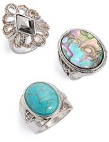 Topshop Filigree & Cabochon Rings (Set of 3)