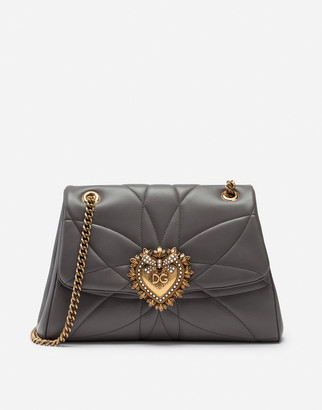 Dolce & Gabbana Large Devotion Shoulder Bag In Quilted Nappa Leather