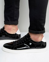 Selected David Patent Leather Sneakers