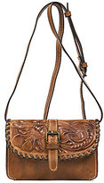 Patricia Nash Burnished Tooled Collection Floral-Embossed Torri Cross-Body Bag