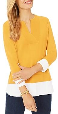 Foxcroft Contrast Hem Sweater