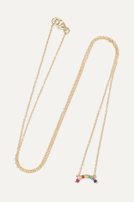 Andrea Fohrman 14-karat Gold Multi-stone Necklace - one size