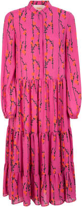 La DoubleJ Floral-Print Crepe Maxi Dress Size: XS