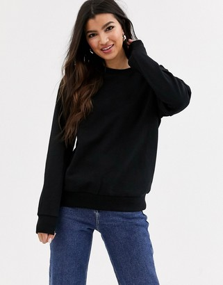 ASOS DESIGN ultimate organic cotton sweatshirt in black