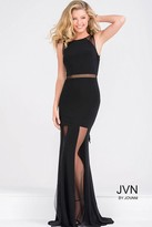 Jovani Sleeveless Black Fitted Prom Dress JVN40483
