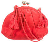 Judith Leiber Suede Pleated Bag