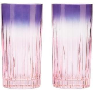 Luisa Beccaria Set Of Two Gradient Glasses - Pink Multi