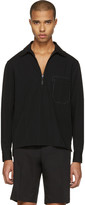 Lanvin Black Zip-Front Shirt