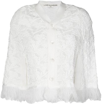 Comme Des Garçons Pre Owned Fringed Knitted Shrug