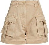 Balmain Cotton Twill Cargo Shorts