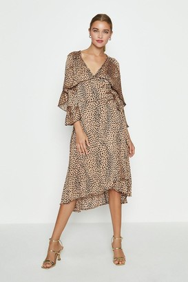 Coast Cape Sleeve Printed Midi Dress