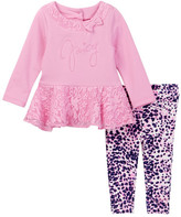 Juicy Couture Lace Bottom Tunic & Animal Print Pant Set (Toddler Girls)