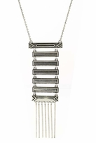House Of Harlow Antiqued Totem Pole Necklace in Silver