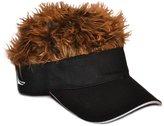 Flair Hair Brown Frosted Hair Visor, Black