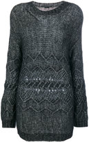 Ermanno Scervino cable-knit sweater - women - Cotton/Polyamide/Wool/Alpaca - 40