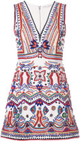Alice + Olivia Alice+Olivia - beaded embroidered mini dress - women - Cotton/Polyester/Spandex/Elastane - 0