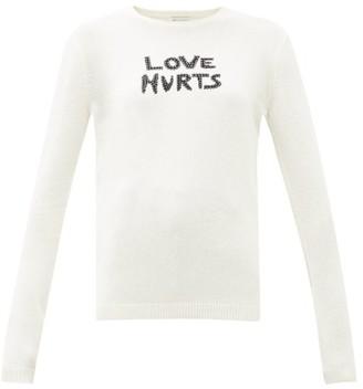 Bella Freud Love Hurts Studded Wool-blend Sweater - Ivory