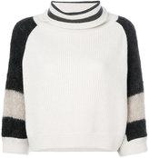 Brunello Cucinelli three-quarter sleeve jumper - women - Polyamide/Cashmere/Mohair/Wool - S