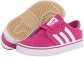 adidas Skateboarding - Seeley J (Little Kid/Big Kid) (Pink/White) - Footwear