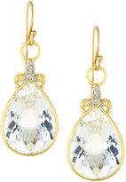 Jude Frances Large Pear Quartz Fleur Dangle & Drop Earrings w/ Diamonds