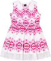Oscar de la Renta Pink Ikat Sleeveless Party Dress
