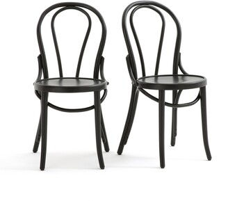 La Redoute Interieurs BISTRO Set of 2 Curved Bistro Style Chairs