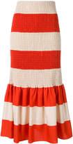 Calvin Klein ruched striped skirt