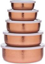 Godinger 5-Pc. Hammered Copper Storage Bowl Set