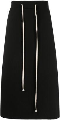 Yuiki Shimoji Drawstring Detail Straight Skirt