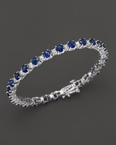 Bloomingdale's Sapphire and Diamond Bracelet in 14K White Gold