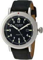 Filson F0110000333 Scout Black Leather & Silver Stainless Steel Men's Watch